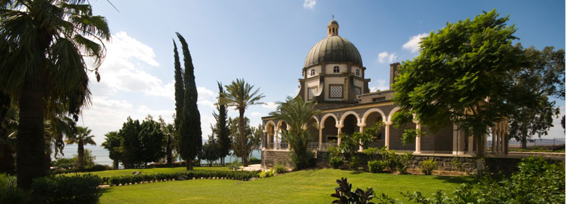 Catholic chapel at Mount of Beatitudes