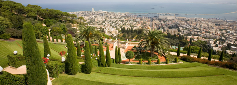 View of Haifa from Bahai gardens