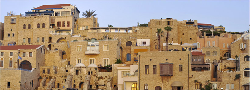 View of the Old Jaffa town from the seaside